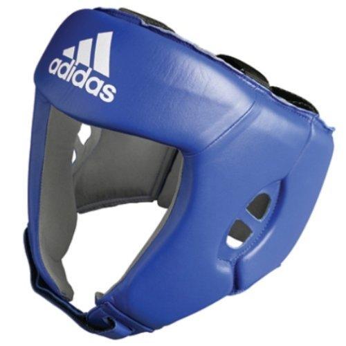 Боксёрский шлем Adidas AIBA синий кожа