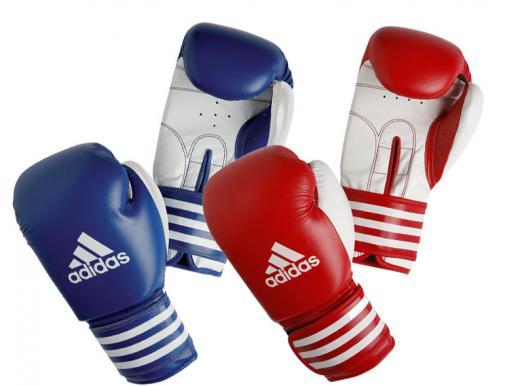 Профессиональные боксёрские перчатки Adidas Ultima competition красно-белый кожа