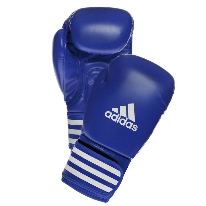 Боксёрские перчатки Adidas AIBA синий пу