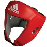 Боксёрский шлем Adidas AIBA красный кожа