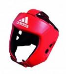 Боксёрский шлем Adidas AIBA красный пу