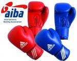 Боксёрские перчатки  Adidas  AIBA красный кожа