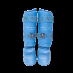 Защита Голень-Стопа для каратэ Arawaza NEW WKF (синие)